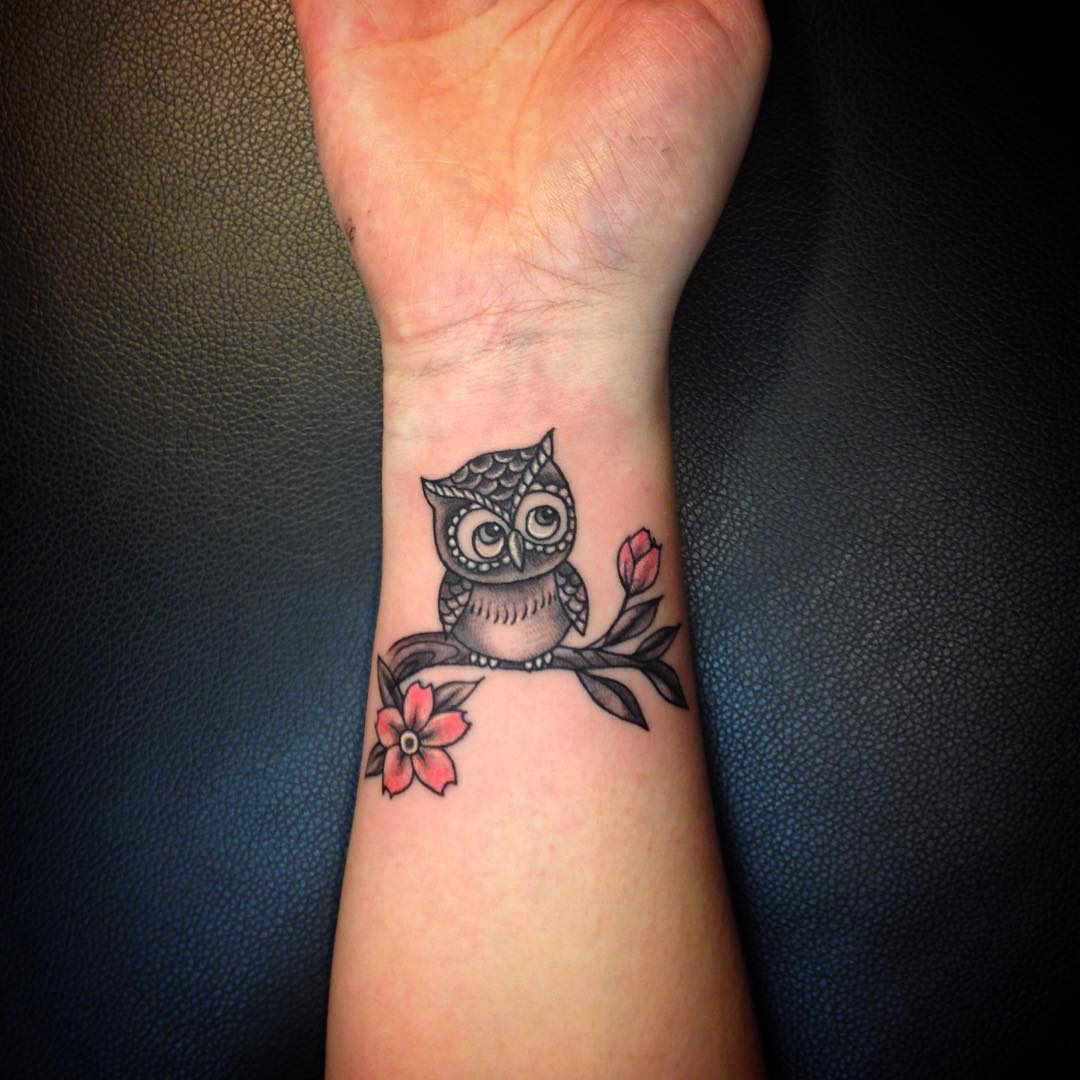 Owl Wrist Tattoos Designs Ideas And Meaning Tattoos For You