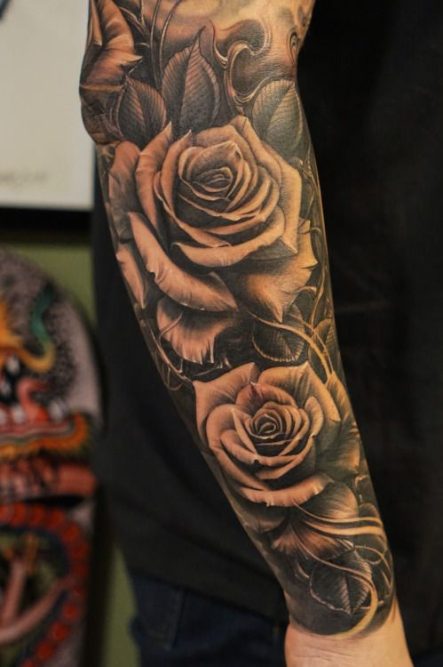 Guy Arm Tattoos: Rose Tattoos For Men Designs, Ideas And Meaning