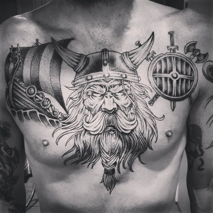 Viking Chest Tattoo Designs, Ideas and Meaning | Tattoos ...