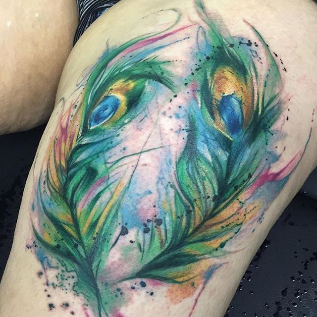 Peacock Tattoos Designs Ideas And Meaning: Watercolor Peacock Feather Tattoo Designs, Ideas And