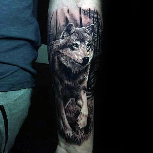 Wolf Forearm Tattoo Designs, Ideas and Meaning | Tattoos For You