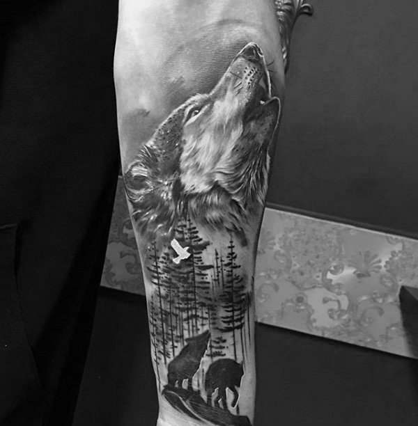 Wolf Wrist Tattoo Designs Ideas And Meaning: Wolf Forearm Tattoo Designs, Ideas And Meaning