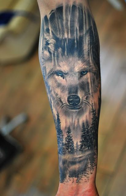 Wolf Forearm Tattoos For Men