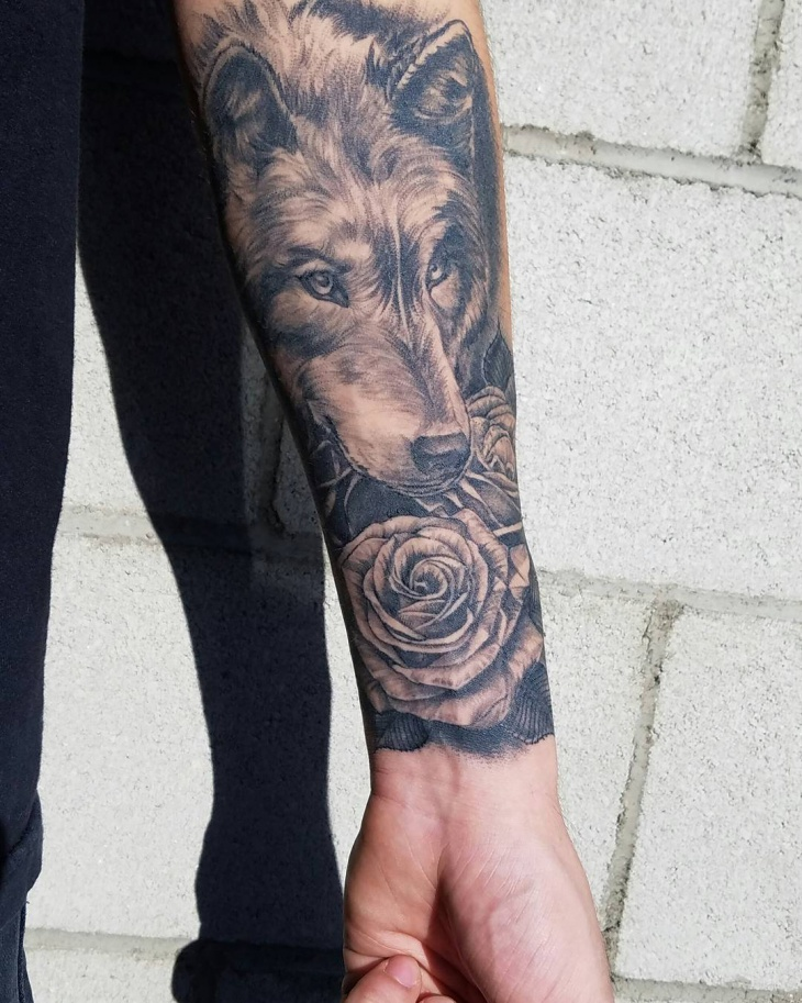 Wolf Forearm Tattoo Designs, Ideas and Meaning