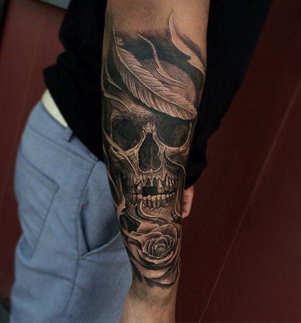 51136e87c Skull Sleeve Tattoos Designs, Ideas and Meaning | Tattoos For You