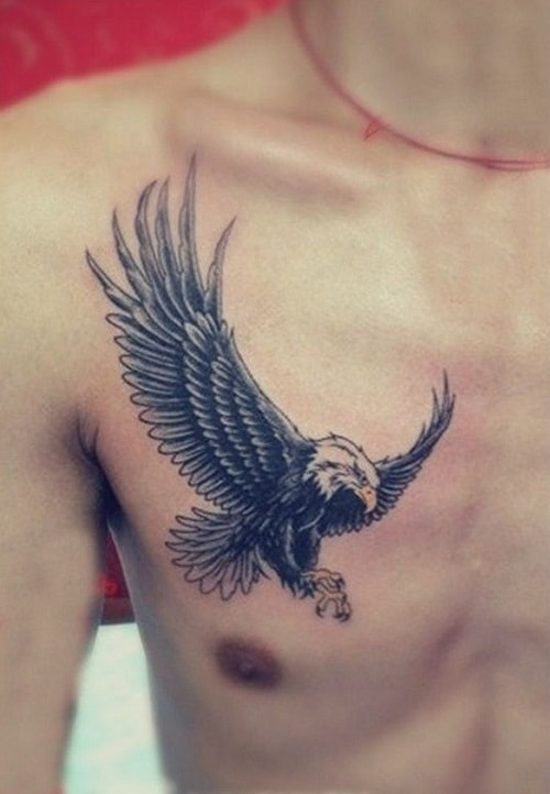 Bird Chest Tattoo Designs, Ideas and Meaning | Tattoos For You