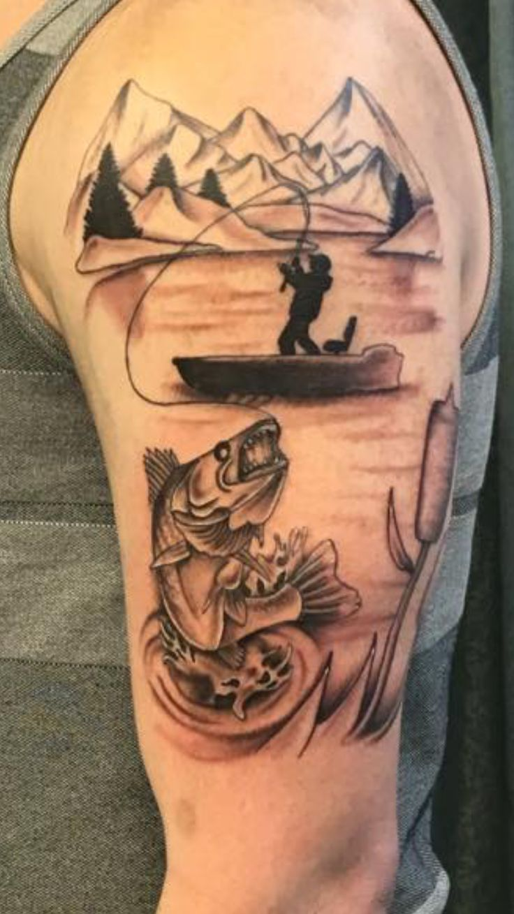 fishing tattoos designs ideas and meaning tattoos for you