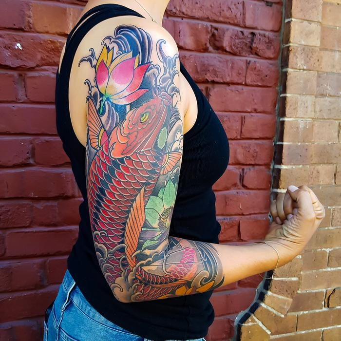Koi Fish Tattoo Sleeve Designs, Ideas And Meaning