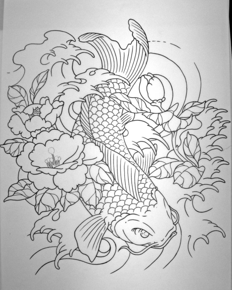 Koi fish tattoo sleeve designs ideas and meaning for Coy carp tattoo