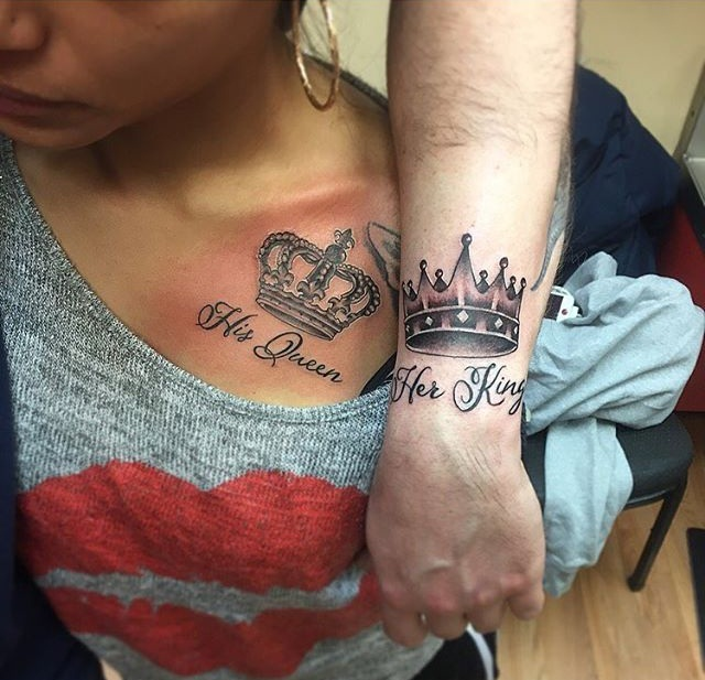 Matching King And Queen Tattoos Designs, Ideas And Meaning