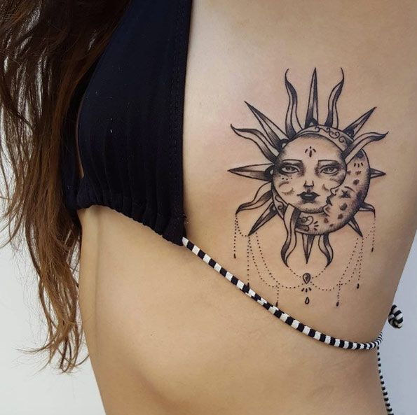 Sun And Moon Tattoo Designs, Ideas And Meaning