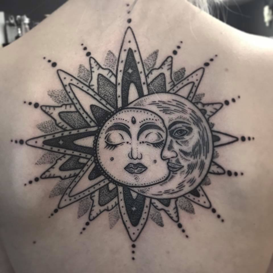 Tattoo Ideas Sun And Moon: Sun And Moon Tattoo Designs, Ideas And Meaning