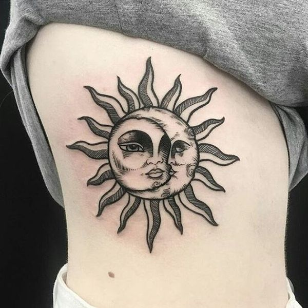 1000 Ideas About Sun Tattoo Meaning On Pinterest: Sun And Moon Tattoo Designs, Ideas And Meaning