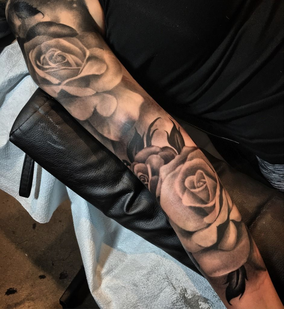 rose sleeve tattoos designs ideas and meaning tattoos. Black Bedroom Furniture Sets. Home Design Ideas