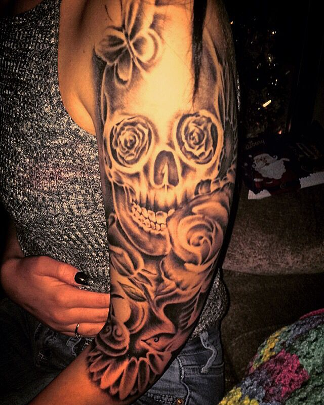 Skull Sleeve Tattoos Designs Ideas And Meaning Tattoos For You